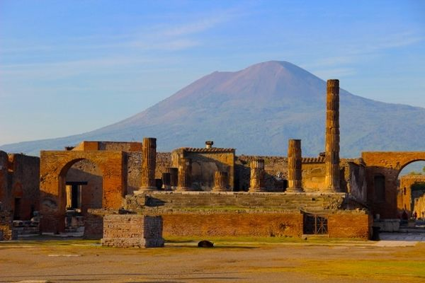 Vesuvius and Temple of Jupiter