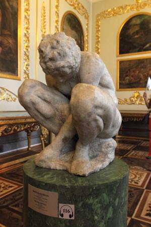 Hermitage Michelangelo Crouching Boy
