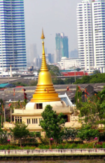 Temple on river-Bangkok